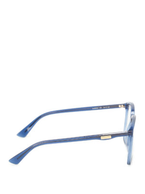 Gucci: glasses online - Blue acetate square optical glasses