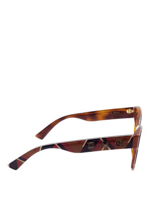 Gucci: glasses online - Embellished squared optical glasses