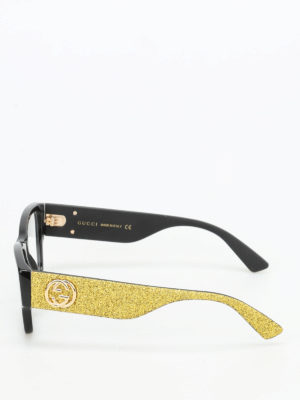 Gucci: glasses online - Glittered temples optical glasses
