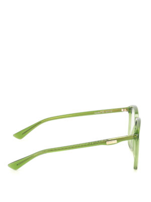 Gucci: glasses online - Green acetate square eyeglasses