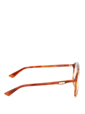 Gucci: glasses online - Havana acetate optical glasses