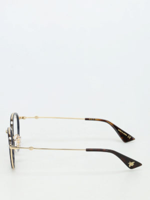 Gucci: glasses online - Metal and acetate optical glasses