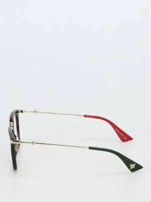 Gucci: glasses online - Tortoise square optical glasses