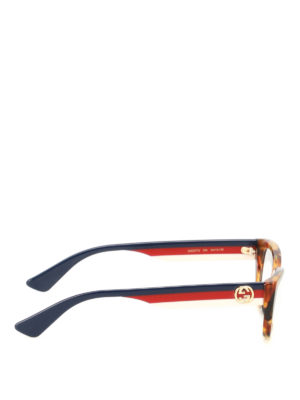 Gucci: glasses online - Web temples tortoise eyeglasses