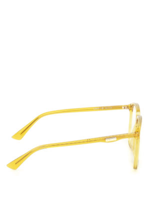 Gucci: glasses online - Yellow acetate square eyeglasses