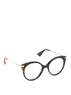 Gucci: glasses - Tortoise eye cat optical glasses