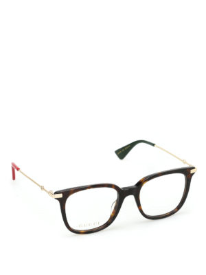 Gucci: glasses - Tortoise square optical glasses