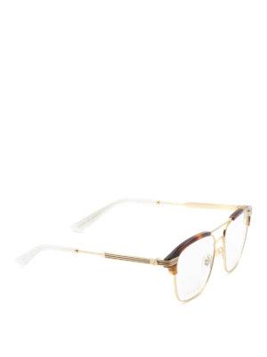 Gucci: glasses - Web detail double bridge glasses