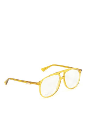 Gucci: glasses - Yellow acetate optical glasses