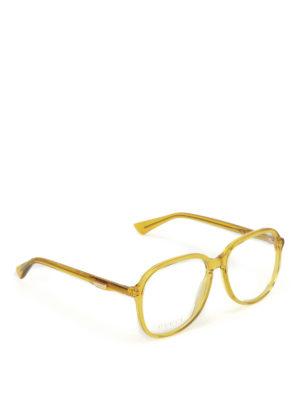 Gucci: glasses - Yellow optical glasses
