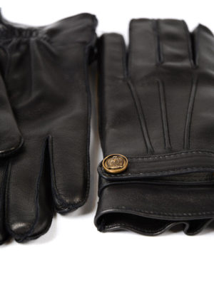 Gucci: gloves online - Soft leather gloves with strap