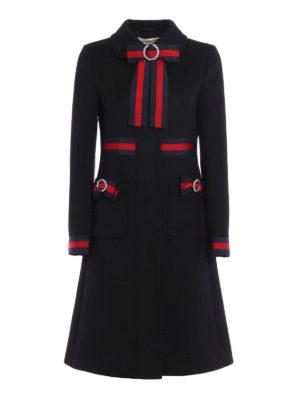Gucci: knee length coats - Bow wool coat
