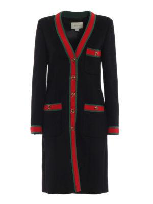 GUCCI: cappotti al ginocchio - Cappotto vestaglia con dettagli Web