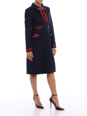 Gucci: knee length coats online - Sylvie Web bow detail coat
