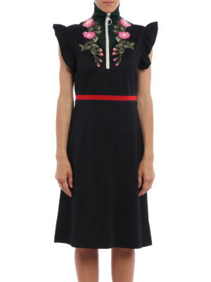 Gucci: knee length dresses online - Technical jersey dress