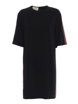 GUCCI: abiti al ginocchio - Abito T-shirt in viscosa stretch