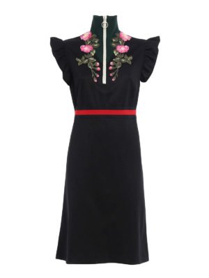 Gucci: knee length dresses - Technical jersey dress