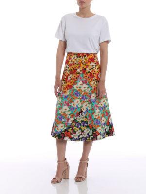 Gucci: Knee length skirts & Midi online - Floral print wool blend skirt