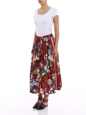 Gucci: Knee length skirts & Midi online - Patterned cotton blend skirt