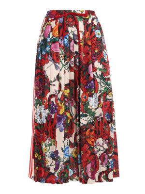 Gucci: Knee length skirts & Midi - Patterned cotton blend skirt