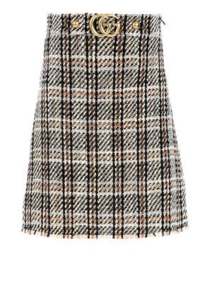 Gucci: Knee length skirts & Midi - Wool tweed A-line GG skirt
