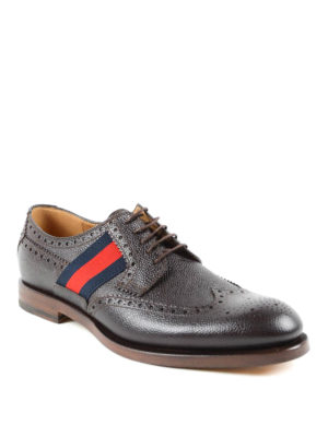 Gucci: lace-ups shoes online - Web detail leather brogues