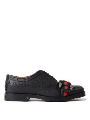 Gucci: lace-ups shoes - Sylvie Web Derby brogue shoes