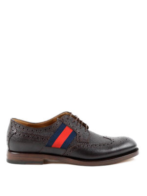 Gucci: lace-ups shoes - Web detail leather brogues