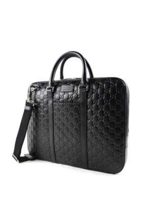 Gucci: laptop bags & briefcases online - Signature leather small briefcase