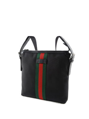 Gucci: laptop bags & briefcases online - Technical fabric messenger bag
