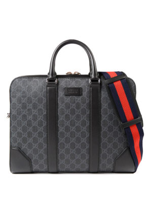 Gucci: laptop bags & briefcases - Signature Sylvie Web briefcase