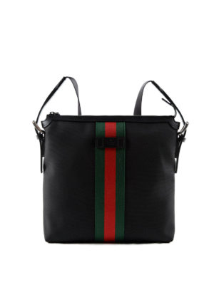 Gucci: laptop bags & briefcases - Technical fabric messenger bag