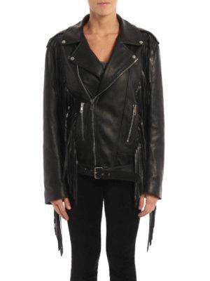 Gucci: leather jacket online - Punk leather biker jacket