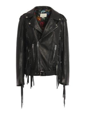 Gucci: leather jacket - Punk leather biker jacket