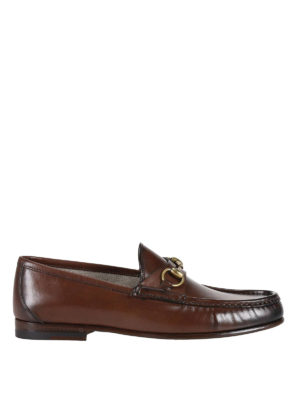 Gucci: Loafers & Slippers - 1953 horsebit leather loafers