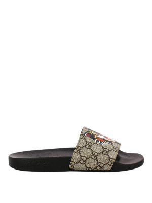 Gucci: Loafers & Slippers - Angry Cat rubber slippers