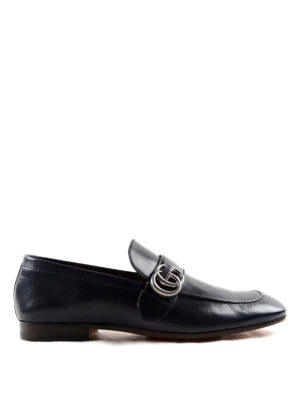 Gucci: Loafers & Slippers - Double G leather loafers