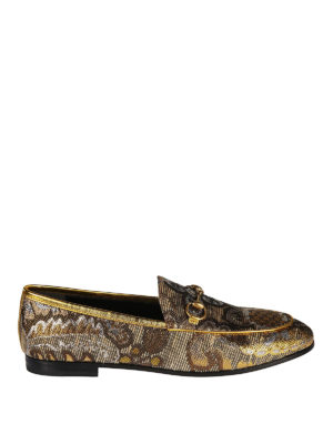 Gucci: Loafers & Slippers - Jordaan baroque print loafers