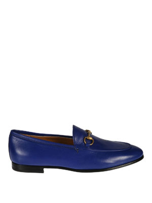 Gucci: Loafers & Slippers - Jordaan blue leather loafers