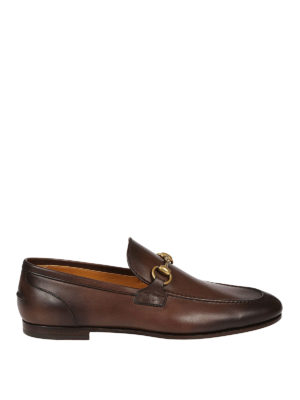 Gucci: Loafers & Slippers - Jordaan brushed leather loafers