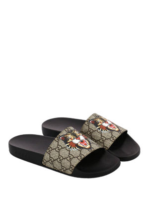 Gucci: Loafers & Slippers online - Angry Cat rubber slippers