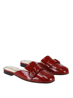 Gucci: Loafers & Slippers online - GG detail patent slippers