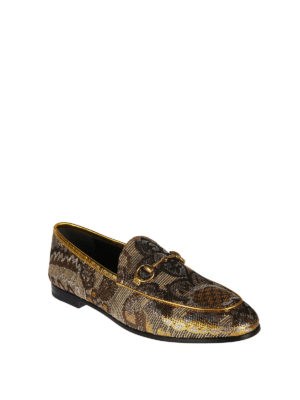 Gucci: Loafers & Slippers online - Jordaan baroque print loafers