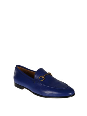Gucci: Loafers & Slippers online - Jordaan blue leather loafers