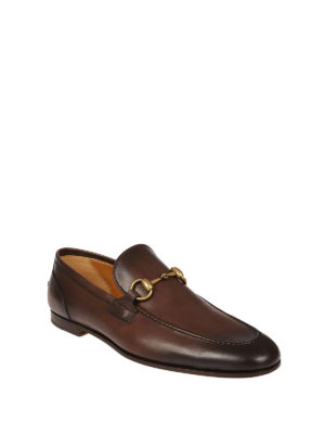Gucci: Loafers & Slippers online - Jordaan brushed leather loafers