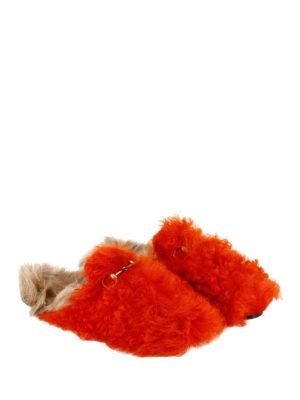 Gucci: Loafers & Slippers online - Princetown bicolour furry slippers