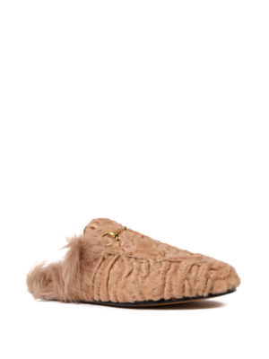 Gucci: Loafers & Slippers online - Princetown lamb fur slippers