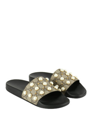 Gucci: Loafers & Slippers online - Pursuit embellished slippers