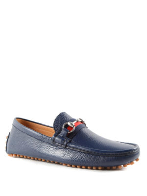 Gucci: Loafers & Slippers online - Web and horsebit driver loafers