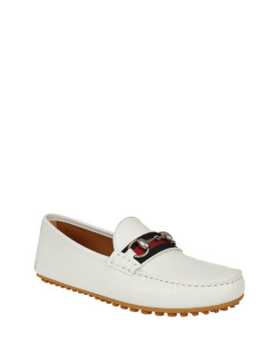 Gucci: Loafers & Slippers online - Web and Horsebit leather loafers